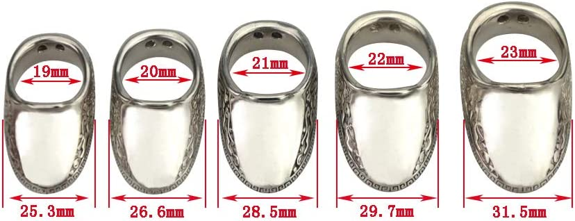 MILAEM Archery Thumb Ring Archery Silver Finger Safety Ring Traditional Handmade Thumb Protector