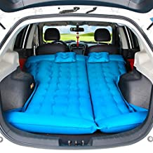HOMEE@ Creative Suv Car Shock Bed Flocking Travel Inflatable Bed Adult Car Inflatable Mattress Trunk Car Supplies