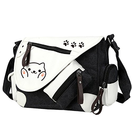 YOYOSHome Neko Atsume Anime Cat Backyard Cosplay Backpack Messenger Bag Shoulder Bag