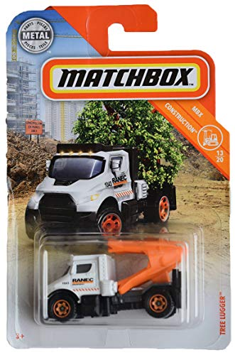 Matchbox Construction Series 13/20, [White/Orange] Tree Lugger 26/100