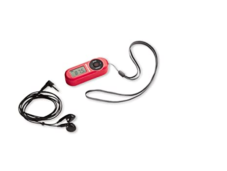 Silvercrest FM Scan Radio – Radio de bolsillo pantalla LCD con auriculares Rojo