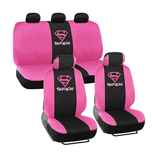 warner-brothers-wbsc-1624-super-girl-seat-covers-for-car-and-suv-front-rear-full-set-9-pieces-poly-s