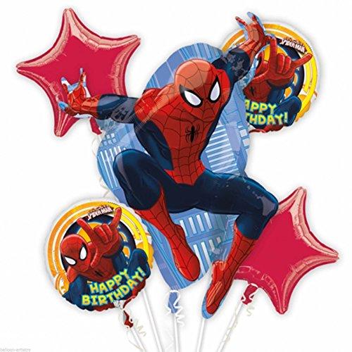 Spiderman Happy Birthday Balloon Bouquet -