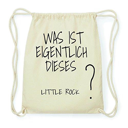 JOllify LITTLE ROCK Hipster Turnbeutel Tasche Rucksack aus Baumwolle - Farbe: natur Design: Was ist eigentlich