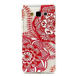 HJZ Flowers Pattern TPU Soft Cover for Samsung Galaxy A7