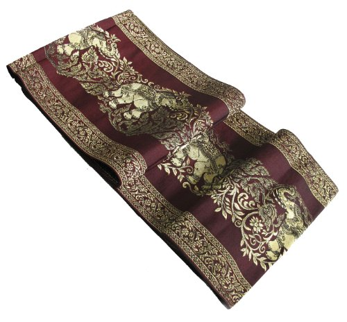 REALLY NICE TEXTURE BIG ELEPHANT IN GOLD BED RUNNER OR TABLE (Cowhide Table Runners)