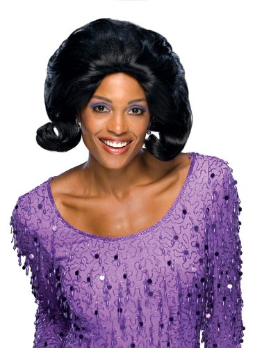 Rubie's Costume Fabulous 50's Dream Girl Wig, Black, One Size (Diana Ross Wigs)