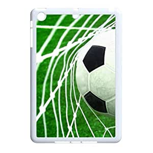 wugdiy Personalized Durable Case Cover for iPad Mini with Brand New Design Soccer Ball