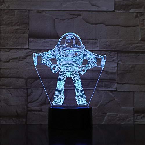 Lámpara De Ilusión Juguetes Para Niños Ilusión 3D Luces Led Luz De Noche Lámpara De Mesa Zumbido Luz Año Dibujos…
