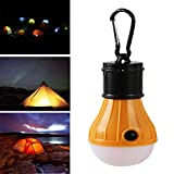 Portable Outdoor Pendant 3 LED Camping Lights Third Gear Tunable Tents Emergency Horses Outdoor Camping, ABS Material,AAA Battery ,Tuscom (Yellow)