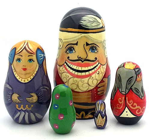 NUTCRACKER Russian Nesting dolls Hand Painted 5 piece Set Fairy tale / ballet by BuyRussianGifts