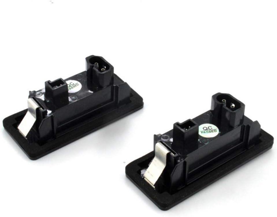 luz de repuesto directo X5 X6 M3 E39 E60 E70 E71 E82 E90 E92 2 luces para matr/ícula de coche para B MW 1 3 5 X Series sin errores 3W 24 LED blanco luz trasera para matr/ícula