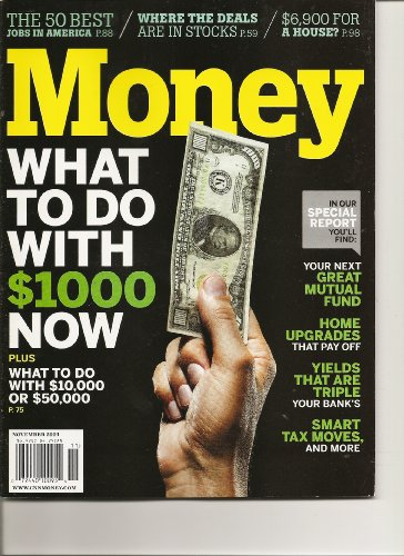 MONEY Magazine (Issn: 0149-4953) (Movember 2009 - Cover: