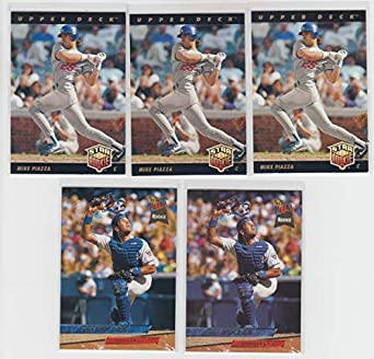 Amazoncom 1993 Upper Deck Baseball Mike Piazza Rookie 5 Card Lot
