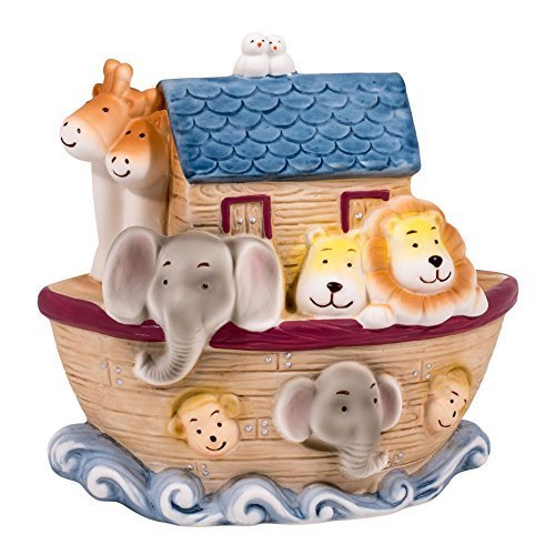 Children's 6.25'' H Noah's Ark Animal Filled Porcelian Desk Top Night Light