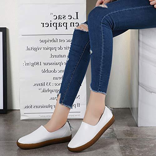 ZHRUI Blanc coloré EU 41 Taille Chaussures Marron Hxrw4nqHB