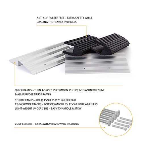 Wide Truck Ramps - 12-inch Aluminum Quick-Ramp Kit by AFA Tooling by AFA Tooling Approved for Automotive (Image #1)'