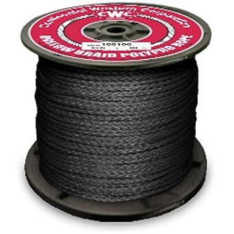 """#4 1//8/"""" X 1000 Black Diamond Braided Poly Pro Rope"""