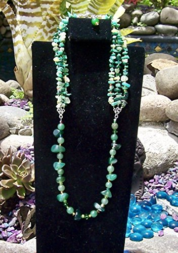 Green single strand medium length Necklace