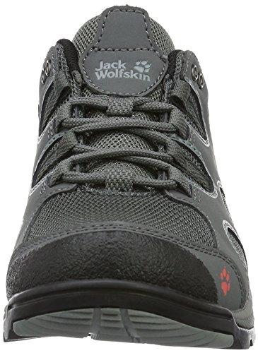 Jack Wolfskin Crosswind W, Zapatos de Low Rise Senderismo para Mujer Gris (Tarmac Grey)