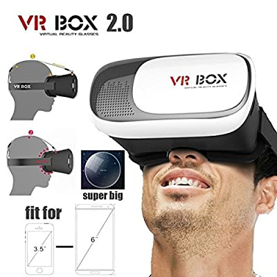 Google Cardboard VR Box 2.0 Version Virtual Reality Oculus rift 3D Glasses for Game Movie 3.5-6.0 Smart Phone