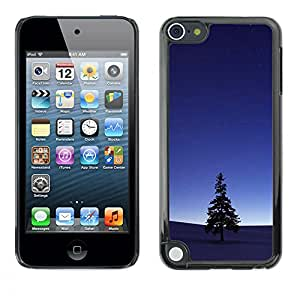 Planetar® ( Lone Tree At Dusk ) Apple iPod Touch 5 Fundas Cover Cubre Hard Case Cover