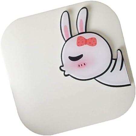 MoGist - Estuche para lentillas de contacto, diseño de conejo, rectangular, estuche para lentes de contacto, para viajes, Weiss 1, 6.8*6.8*2CM: Amazon.es: Hogar