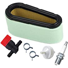 HIFROM 496894 Air Filter 272403S Pre Filter With 394358 Fuel Filter 494768 Fuel Shut Off Valve for Briggs & Stratton 282700 12.5 - 17 HP Engines