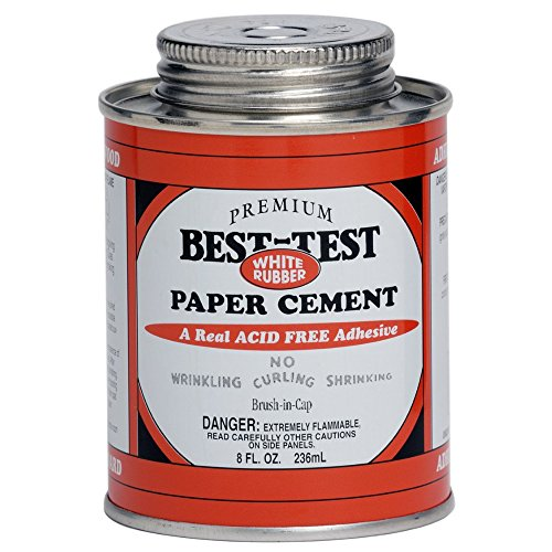 Best-Test Paper Cement W/Brush 8 Ounce