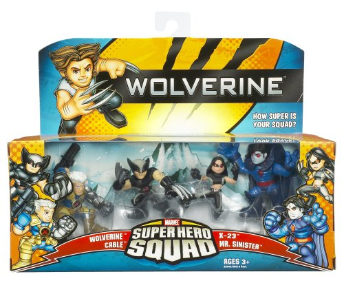 - Hasbro Wolverine Super Hero Squad Battle Pack - Messiah Complex