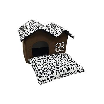 Amazon.com: Zcx - Casita para mascotas con doble capa de ...