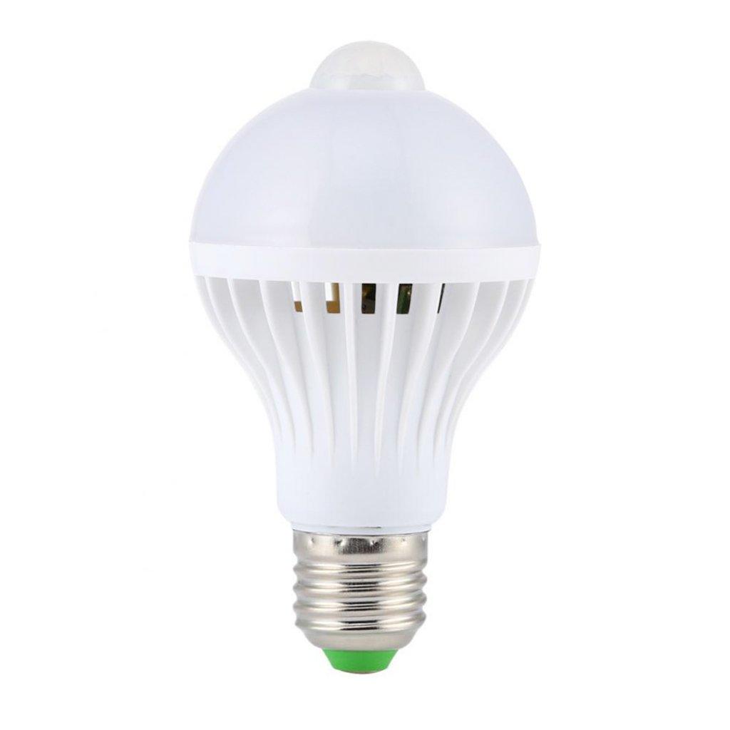 Luz LED PIR Sensor de Movimiento Bombilla Lámpara de Infrarrojos Automático Ahorro Energía 9W Blanco: Amazon.es: Iluminación