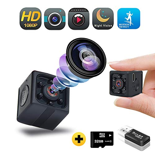 Hidden Camera with Audio, 1080P Spy Hidden Camera with Video – Nanny Cam with Night Vision/Motion Detection/Video Record,Security Cop Spy Cam for Home,Car,Office Outdoor-No WiFi Needed