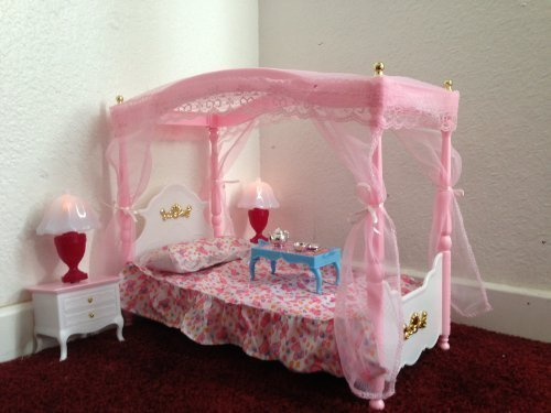 Huaheng Toys Barbie Size Dollhouse Furniture Master Bed Room Import It All