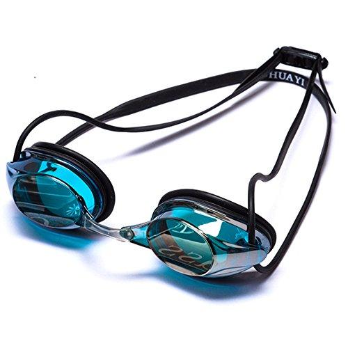 ZHAGOO Mirrored Natation Lunettes Pas De Fuite Anti Brouillard UV Protection Triathlon Lunettes De Natation Miroir Enduit Avec Cas De Protection Gratuit Pour Adultes Hommes Femmes Enfants Enfants Kid