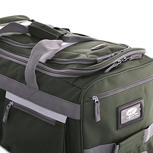 "Olympia 22"" 8 Pocket Rolling Duffel, Green One Size"
