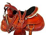Custom Leather Classic Tooled 15 16 17 Western Horse Trail Barrel Saddle Pleasure
