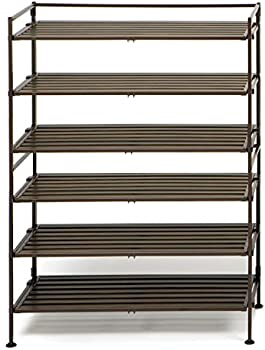 2-Pack Seville Classics 3-Tier Shoe Rack