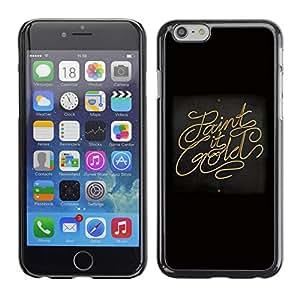 PC/Aluminum Funda Carcasa protectora para Apple Iphone 6 Paint It Gold / JUSTGO PHONE PROTECTOR