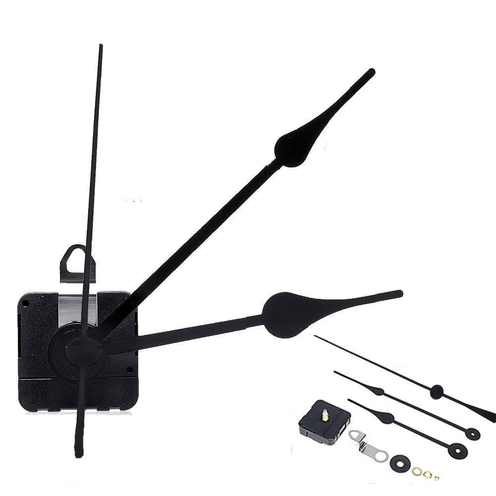 AITIME Quartz Clock Movement Mechanism DIY Repair Parts Replacement with 2 Different Pairs of Hands(Shaft Length 4//5 Inch// 20 mm)