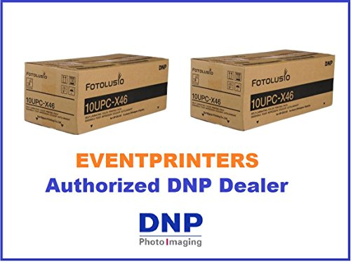 TWO BOXES OF DNP 10UPC-X46 Color Printing Pack (500 PRINTS). For use with Sony UPXC100, UPXC200, UPXC300 and DNP DS-ID400 Passport Photo Systems. EVENTPRINTERS IS THE AUTHORIZED DNP DEALER (10UPCX46) by DNP