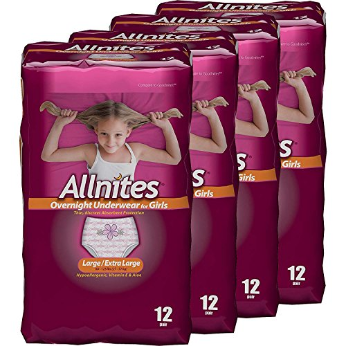 Allnites Youth Pants for Girls , Pack of 4