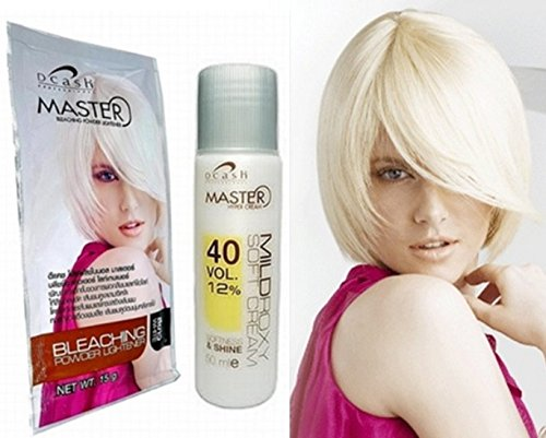 New Set Kit White Bright Color Hair Dye Bleach Bleaching