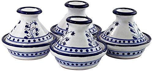 Le Souk Ceramique Azoura Set of 4 Mini Tagines