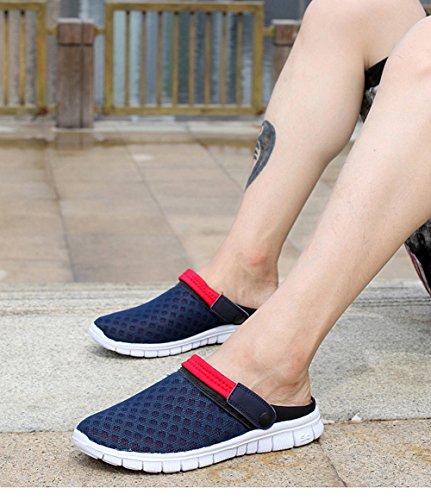 libre aire mujeres Herren de de Zueco al Damen Scothen la zapatillas de verano malla Verano agua transpirable Hombres zapatos zapatillas sandalia Blau unisex X4XqHUZ