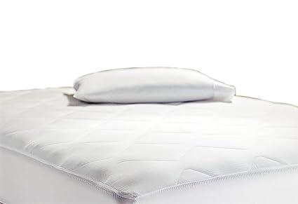 hilton hampton inn hotel collection queen 500t cotton mattress pad with 1 gusset 0035259 - Hampton Inn Bedding