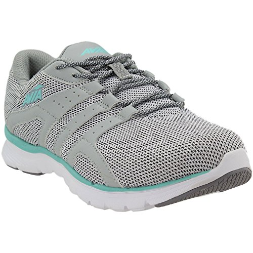 Avia Women's Avi-Mania Sneaker, Cool Mist Frost Grey/Aruba Aqua, 7 Medium US For Sale