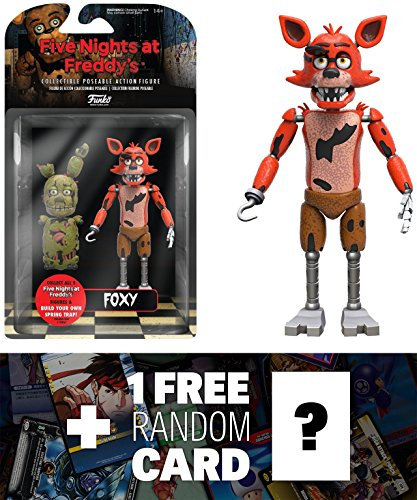 ights at Freddy's Action Figure + 1 FREE Video Games Themed Trading Card Bundle (088484) ()