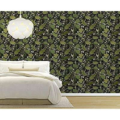 Amazing Style, Large Wall Mural Seamless Pattern with Vine and Leaves Vinyl Wallpaper Removable Decorating, With a Professional Touch