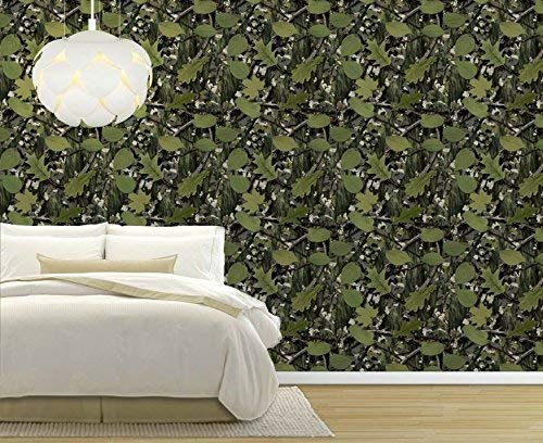 (wall26 - Large Wall Mural - Seamless Pattern with Vine and Leaves | Self-Adhesive Vinyl Wallpaper/Removable Modern Decorating Wall Art - 66